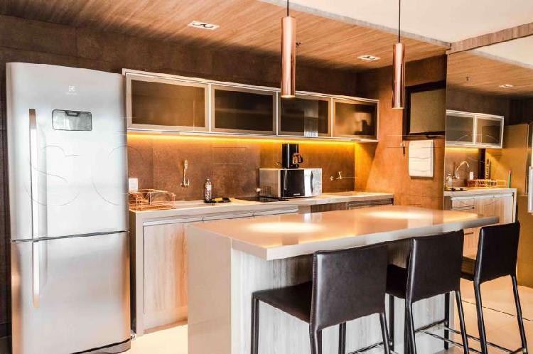 Flat com 2 quartos para alugar, 55 m² por r$ 2.985/mês