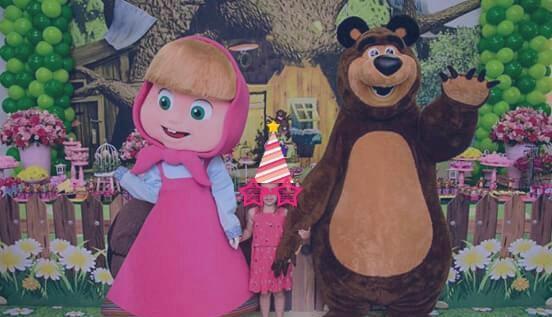 Masha e o urso para festa infantil bh e regiao