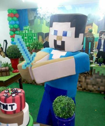 Minecraft para festa infantil bh e regiao