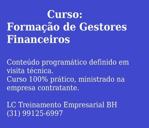 Ofereço serviço de gestão financeira/custos para empresas