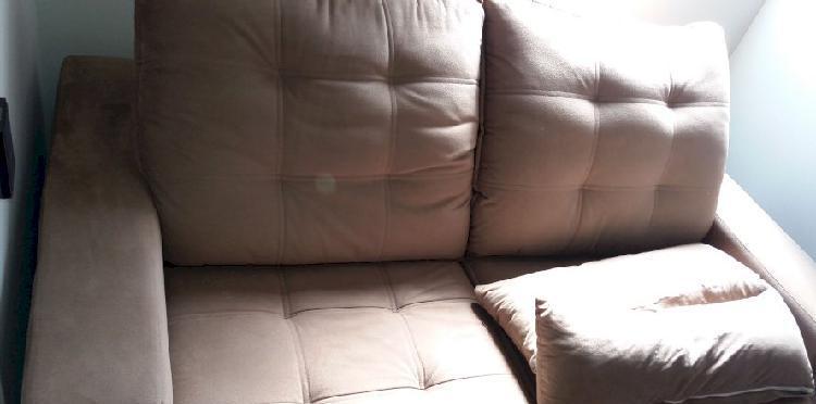 Sofá reclinável e retrátil semi novo, oportunidade!!!