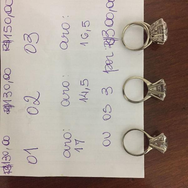 Anéis franceses de aço inox com níquel.