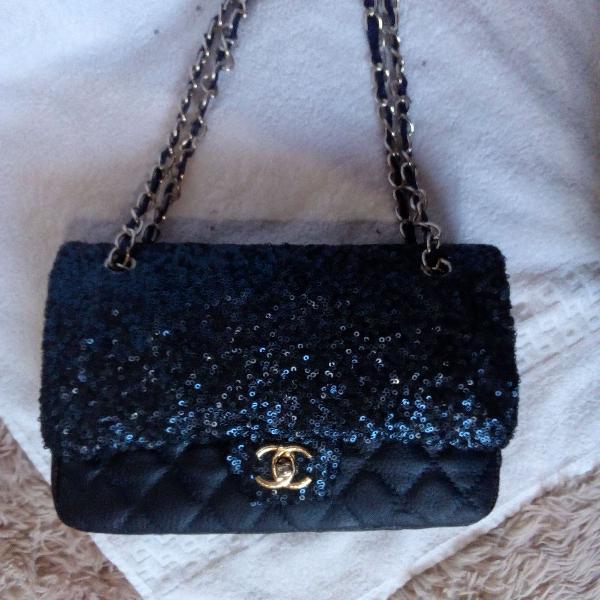 Bolsa azul marinho noite