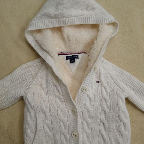 Casaco infantil tommy hilfiger tricot original