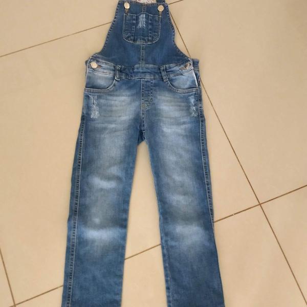 Jardineira jeans fuzarka