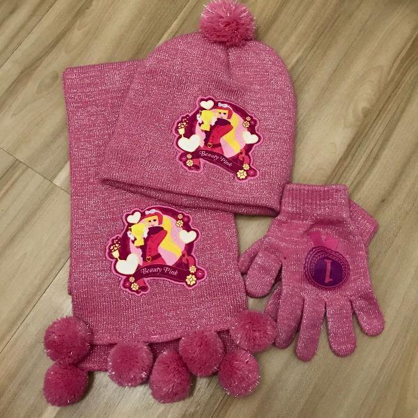 Kit de inverno - cachecol, luva e touca