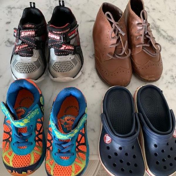 Kit sapatos meninos top dos tops