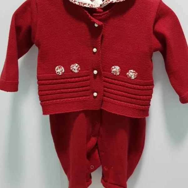 Macacão vermelho milly baby
