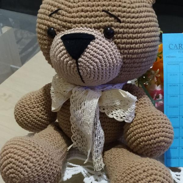 Urso Ursinho Amigurumi Decoração Crochê Quarto Bebê Infantil ... | 600x600