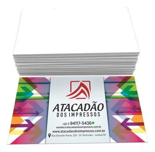1000 cartão de visita colorido verniz arte grátis