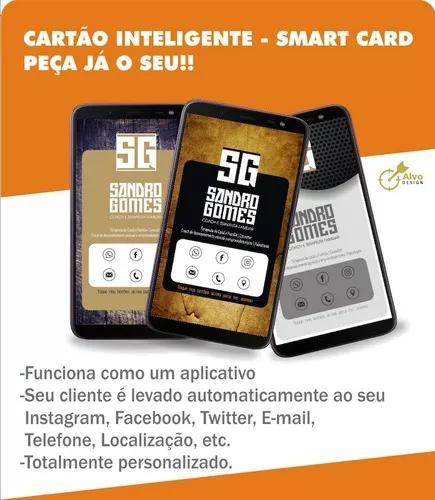 Cartão inteligente - clicável (cartão de visita virtual).