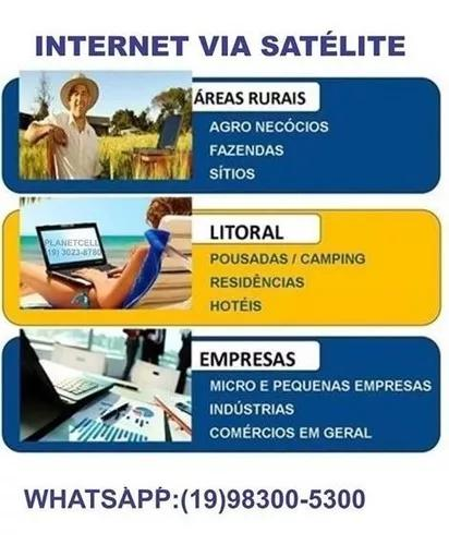 Internet via satelite para area rural