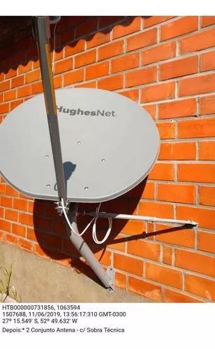 Internet via satélite rural hughes net