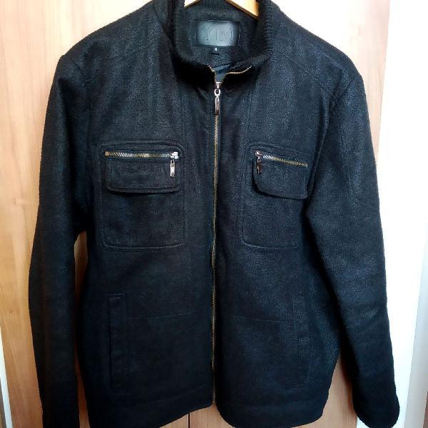 Jaqueta de lã cinza escura yatchsman, tam m
