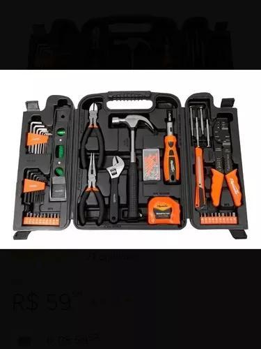Kit jogo de ferramentas 129 peças + super maleta sparta