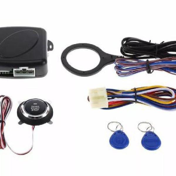 Kit universal partida motor carro com botão start stop rfid