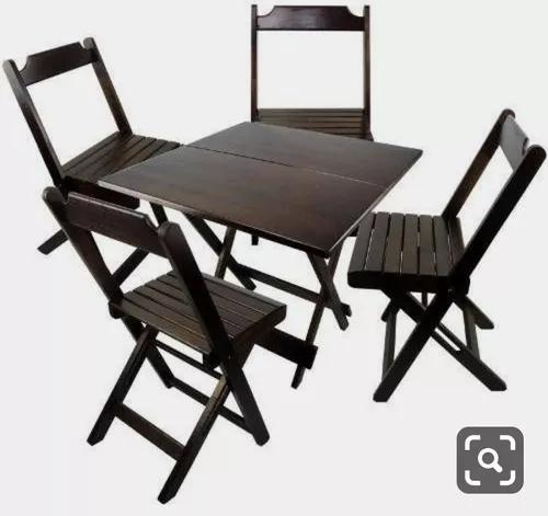 Projeto de mesa de bar dobrável mas cadeira + brinde