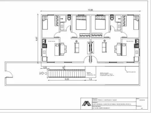 Projetos residenciais e comerciais/ desenho cadista
