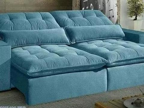 Sofá retrátil e reclinável de 2,50 de comprimento