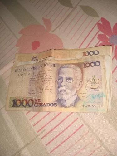 Vendo notas colecionador, 1000 cruzados 50 reais. cada.