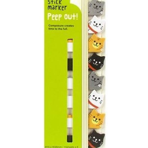 Bloquinho marcador de páginas gatinhos coloridos