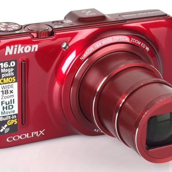 Câmera digital nikon coolpix s9300 vermelha