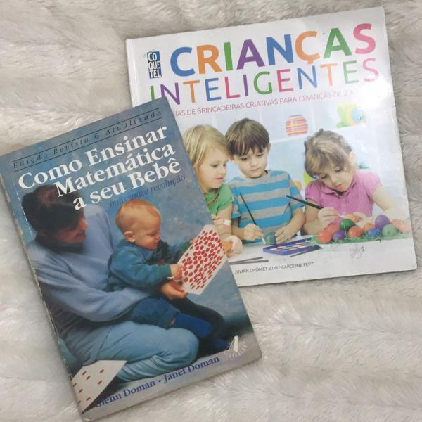 Kit de livros - crianças inteligente e como ensinar