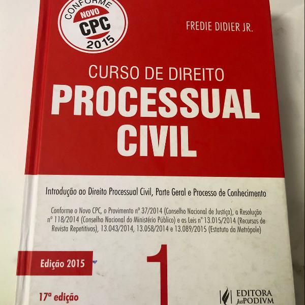 Livro curso direito processual civil, volume 1, novo cpc
