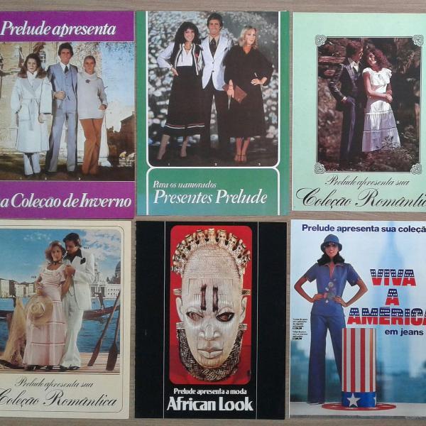 Lote com 12 catálogos de moda prelude, coleções de