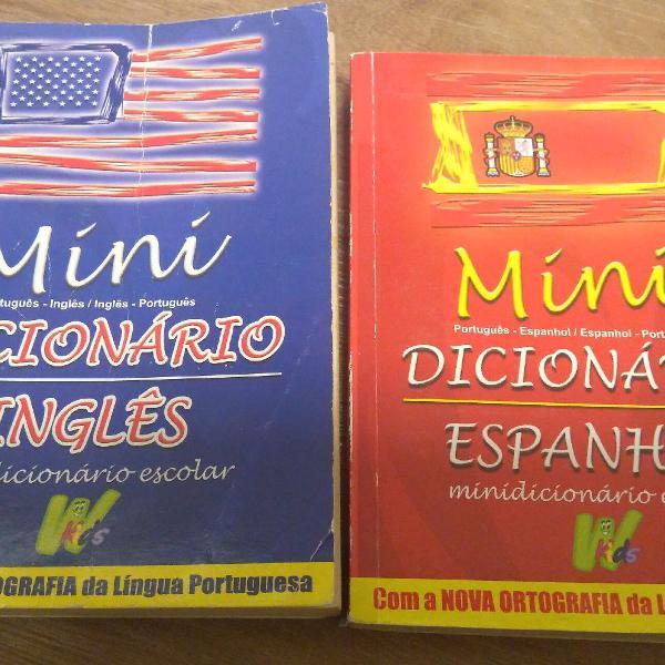 Mini dicionário inglês e espanhol