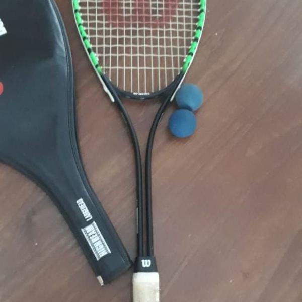 Raquete wilson defender - aero high beam series - squash