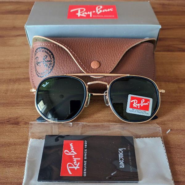 Ray ban marshal rb3648 dourado masculino feminino