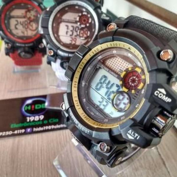 Relógio digital estilo g-shock 3 cores (entrega grátis)