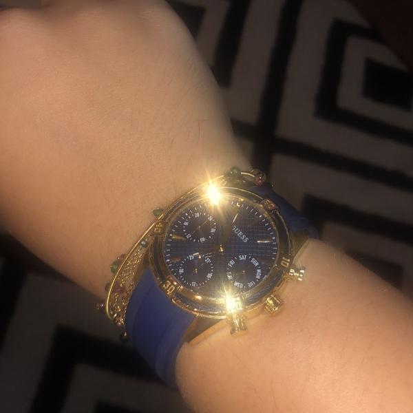 relógio guess azul marinho