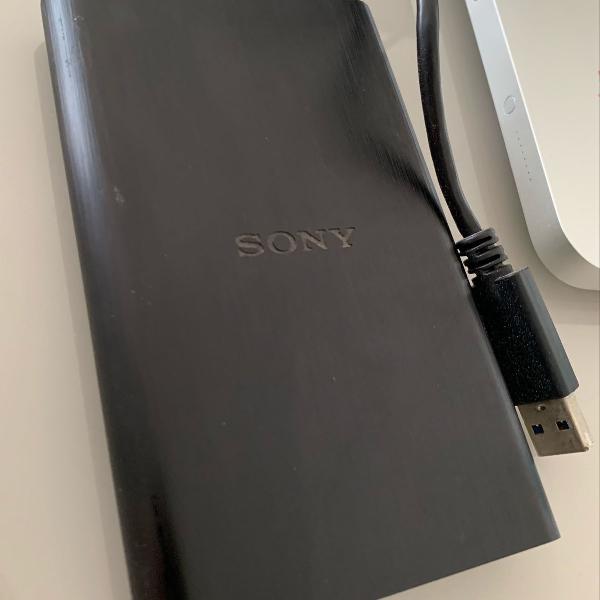 Sony hd externo 1tb hd-e1/bc ww1 preto semi novo