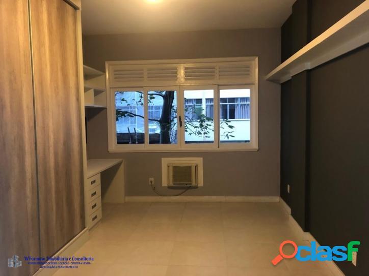 Excelente apartamento quarto e sala a venda, rua anchieta leme