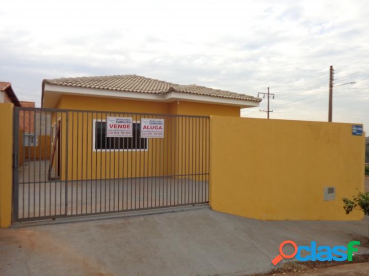 Casa nova, 2 dormitórios, 70 m², res. monte belo em piraju.