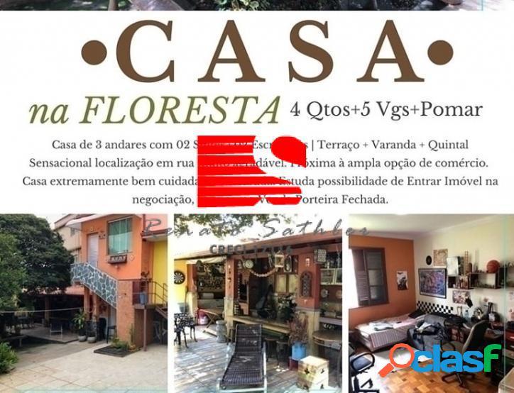 Casa ☆ 04 qts ☆ 300m² ☆ 5 vgs ☆ bairro floresta