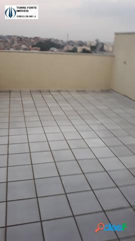 Apartamento cobertura, sem condomínio, com 2 dormitórios pq erasmo. 1 vaga