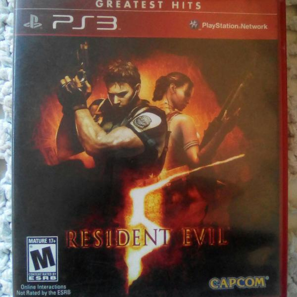 Jogo resident evil 5 para ps3