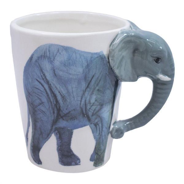 Caneca 3d elefante porcelana ótimo presente decoração