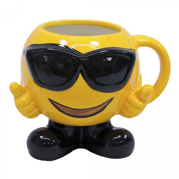 Caneca porcelana emoticon sorrindo ótimo presente