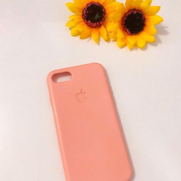 Case silicone iphone 7/8 rosinha bebe