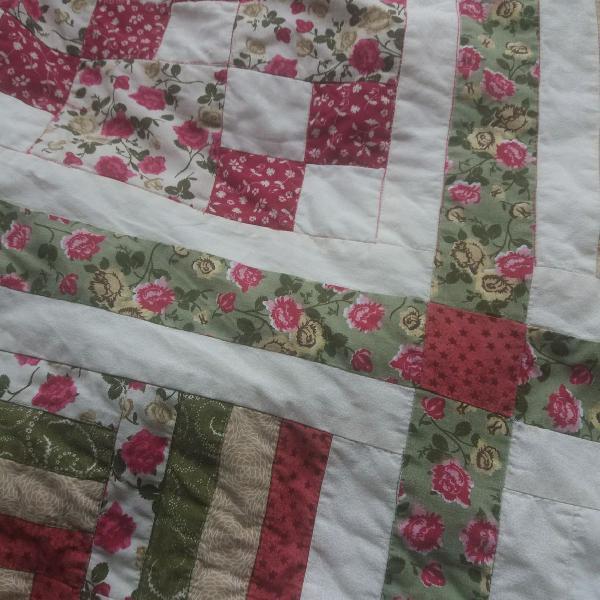 Colcha de casal queen patchwork