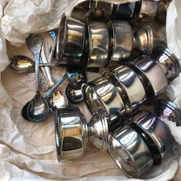 Conjunto de sobremesa de prata