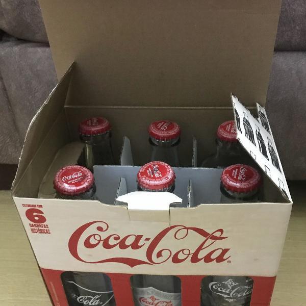 Conjunto garrafas históricas coca cola