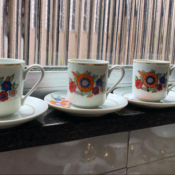 Conjunto para café em porcelana