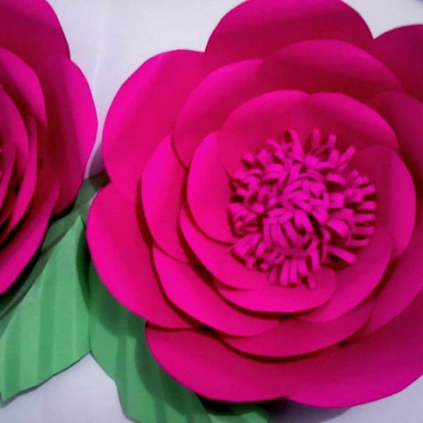 Flor de papel gigante 30 centímetros kit