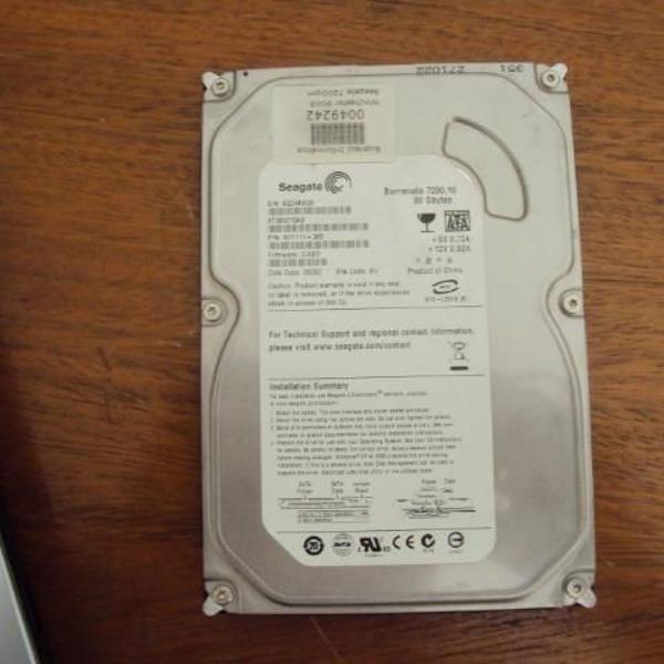 Hd sata 80gb para computador ou sistema d monitoração