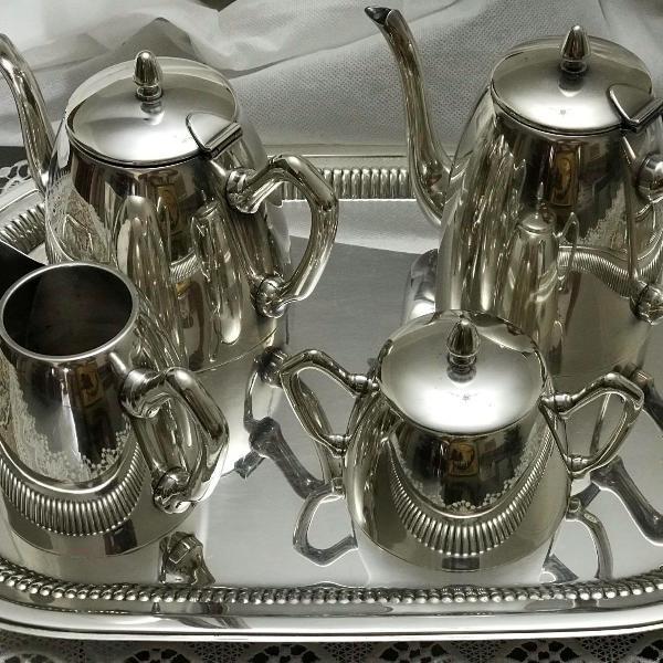 Jogo cafe em prata 90 fracalanza.
